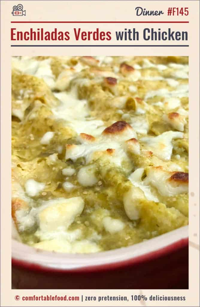A recipe for Enchiladas Verdes with Chicken.