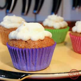 Carrot Cake Cupcakes with Cream Cheese Icing 3