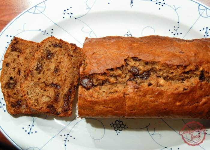 Peanut Butter Chocolate Chip Banana Bread with Video 1