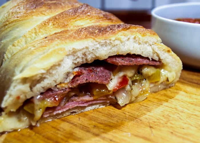 An Authentic Italian Stromboli from Comfortable Food.