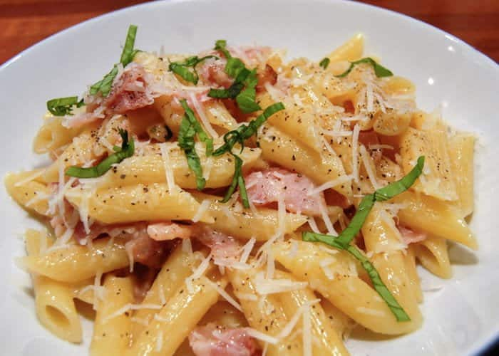 Traditional Penne alla Carbonara from Comfortable Food.