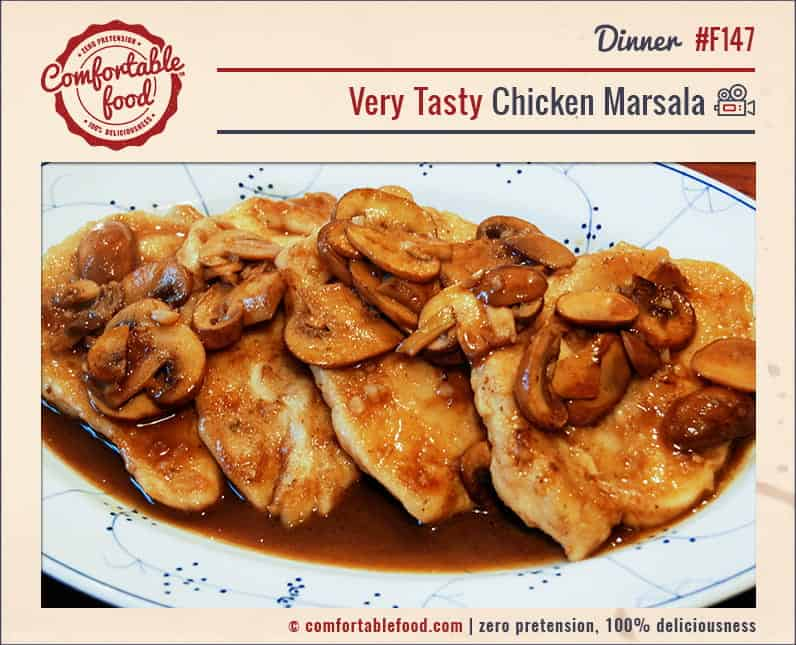A super easy, light and delicious Chicken Marsala recipe.