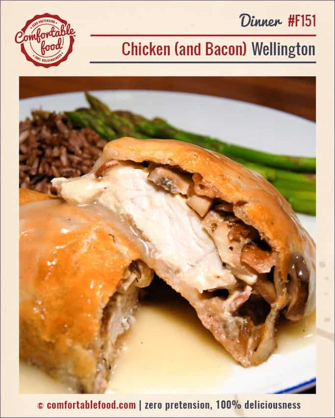 Chicken Wellington with Bacon.