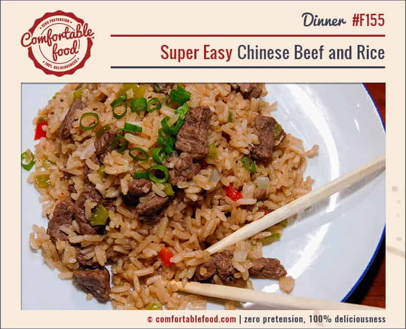 Super Easy Chinese Beef and Rice 1