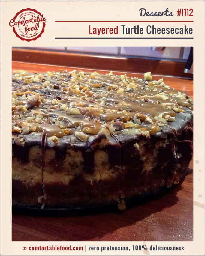Caramel and Chocolate and Nuts make this Turtle Cheesecake the best ever!
