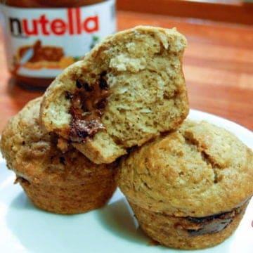 Nutella banana bread muffins