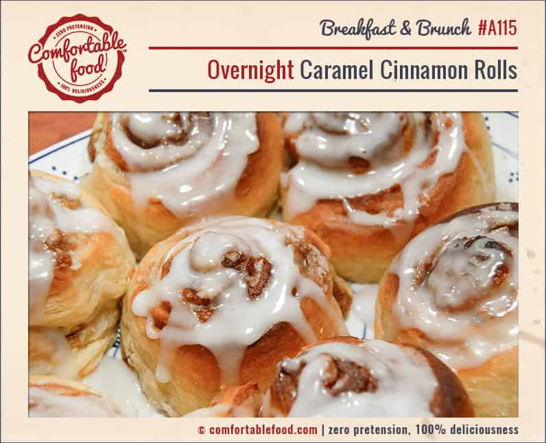An easy, overnight caramel cinnamon roll recipe.
