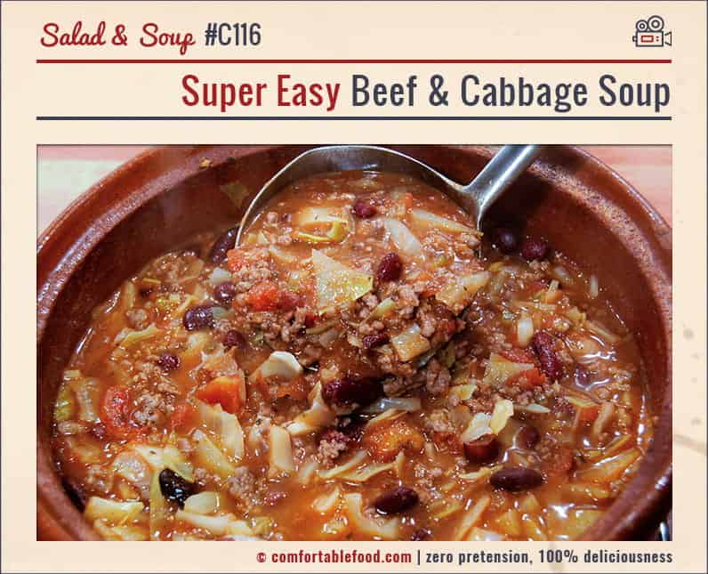 A super easy, super delicious Beef Cabbage Soup Recipe.