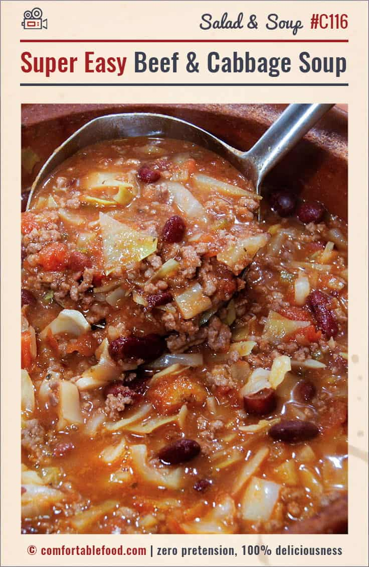 This Beef and Cabbage Soup is a cinch to make and it's SO flavorful and hearty!