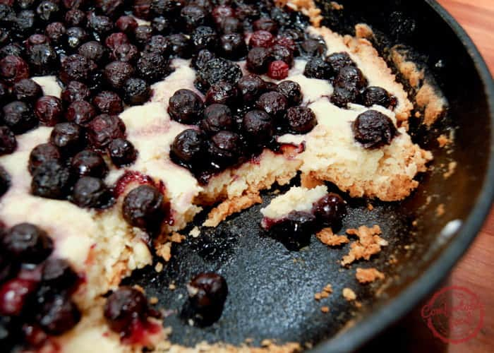Easy One Dish Blueberry Cake 1