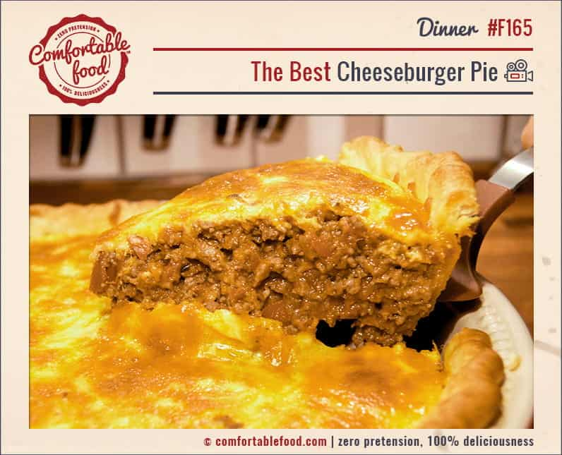 An easy recipe for the best Cheeseburger Pie ever.