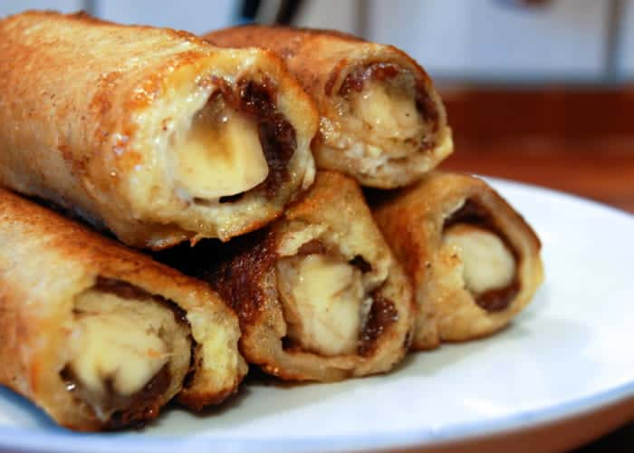 Nutella and Banana French Toast Roll Ups 2