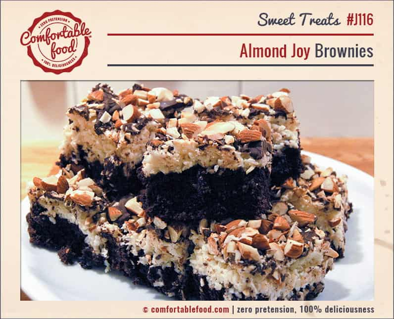 Chocolate, coconut and almonds help make these dense Brownies the best ever!