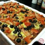 easy beef and bean taco casserole