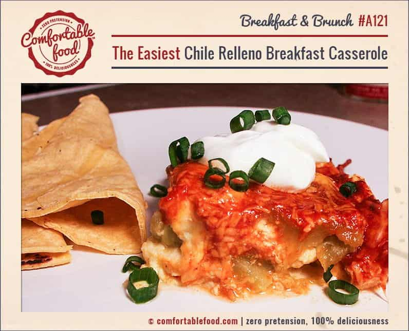 A super easy Chile Relleno Breakfast Casserole recipe.