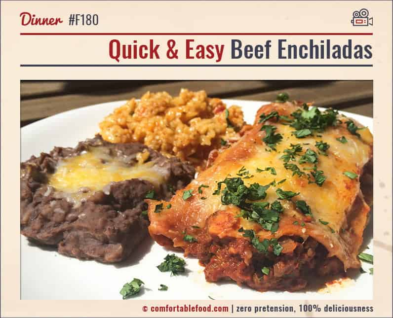 Super delicious, super easy Beef Enchiladas.