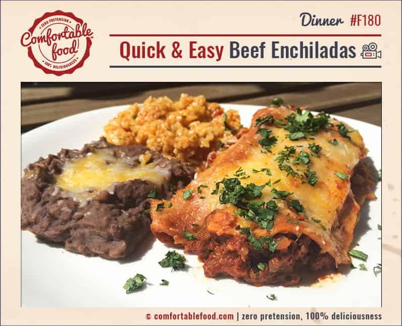 Super easy, super delicious Beef Enchiladas.