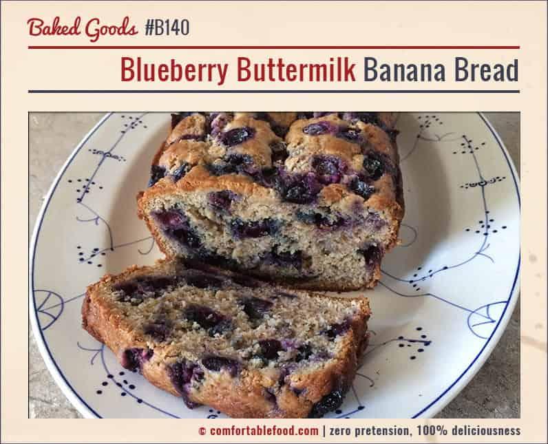 Sweet and Tart Blueberry Banana Bread.