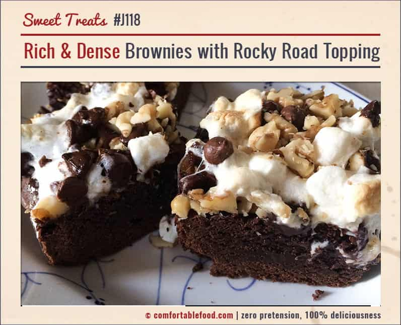 These Rich Brownies with Rocky Road Topping are SO good!