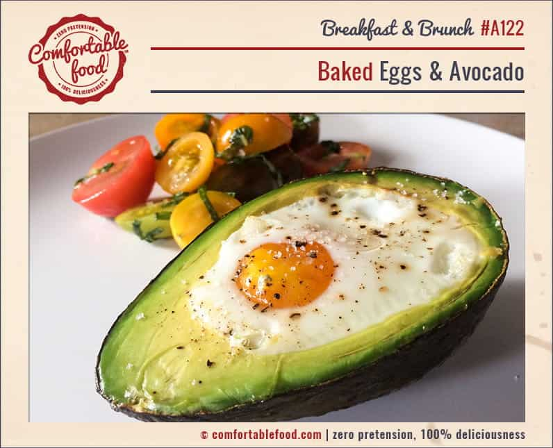 Couldn't be easier (or more delicious) egg baked in avocado.