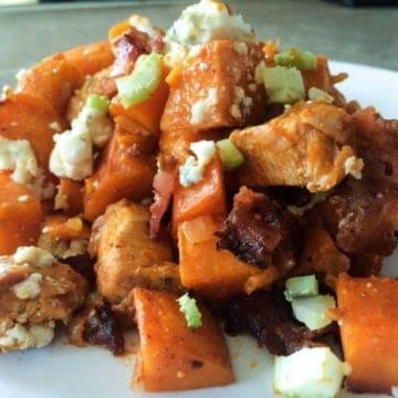 Buffallo chicken sweet potato bake e1512223786950