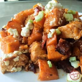 Buffalo Chicken Sweet Potato Bake 4