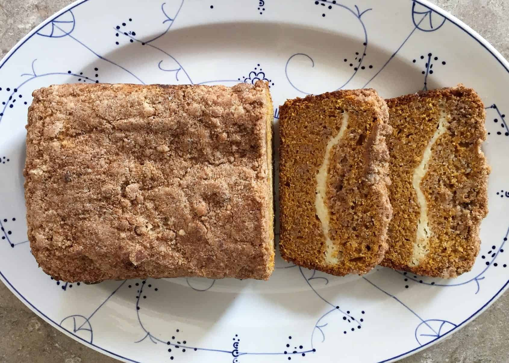 Pumpkin Bread with Cream Cheese Filling  1