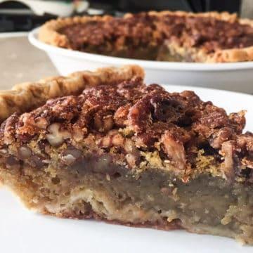 Bourbon maple pecan pie