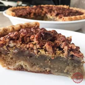 Super Easy Bourbon Maple Pecan Pie 1
