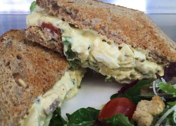 White Truffle Egg Salad (and Bacon) Sandwich 1