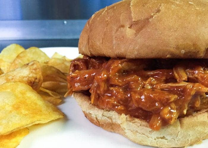 Bourbon BBQ Pulled Chicken Sandwich 1