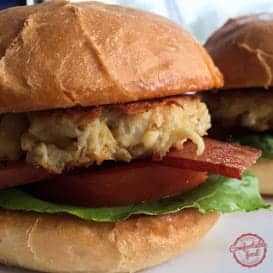 Crab Cake BLT Sliders with Sriracha Mayo 2