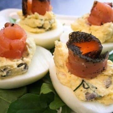 Smoked salmon deviled eggs e1512142767997
