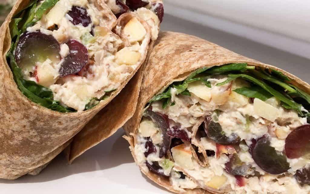 Waldorf chicken salad wrap ftr