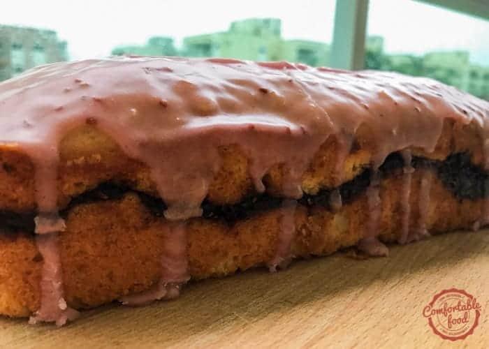 Lemon Raspberry Sour Cream Pound Cake 1