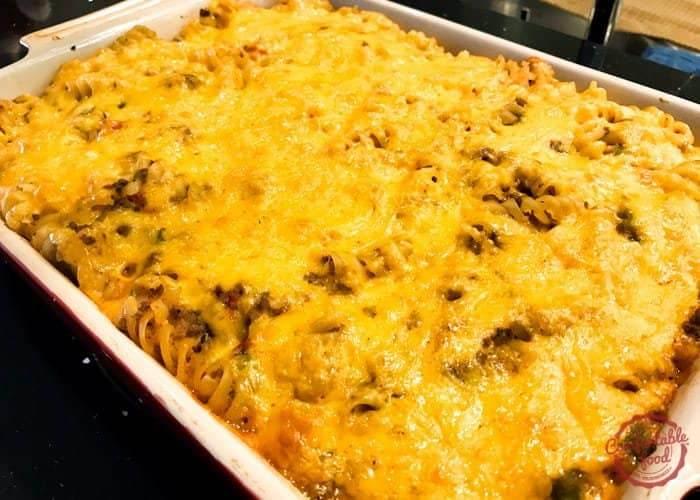 meaty mac and cheese casserole recipe