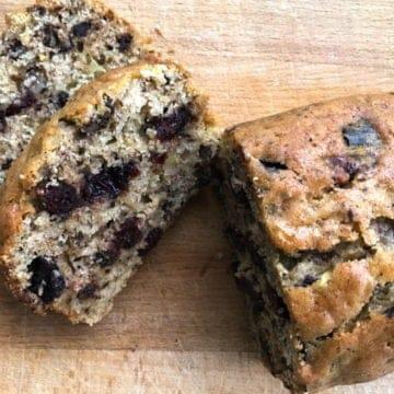 Chocolatey nutty cranberry zucchini bread 2