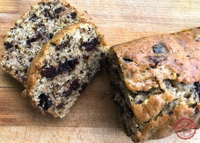 Chocolatey, Nutty Cranberry Zucchini Bread 1