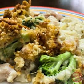 Slow cooker recipe for chicken and ritz casserole.