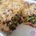 BBQ Ranch Chicken Layer Salad