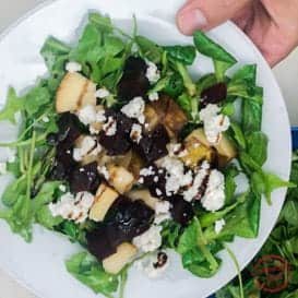 Pear, Beet and Goat Cheese Salad 2