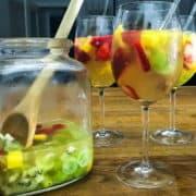 Easy Tropical Sangria recipe.