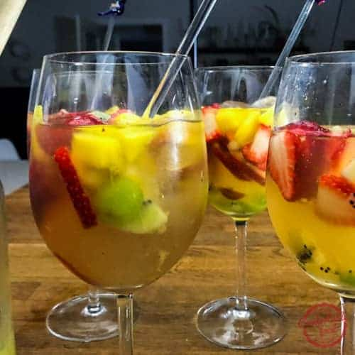 Easy Tropical Sangria recipe.