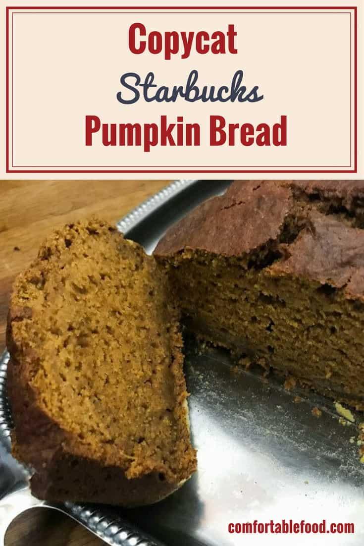 Copycat Starbuck's Pumpkin Bread & Video 1