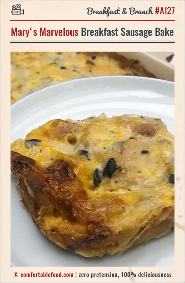 An overnight sausage bake breakfast casserole.