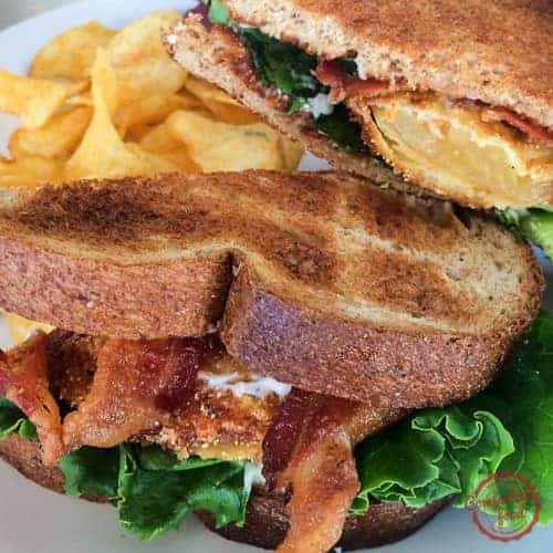 Bacon, Lettuce and (Fried Green) Tomato Sandwich with Garlic Aioli  2