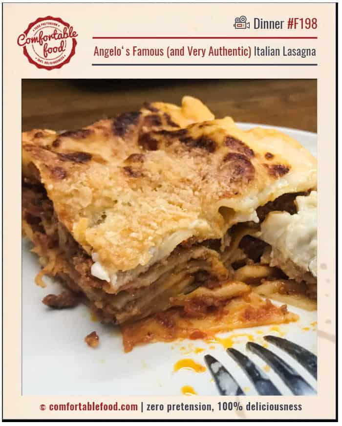 A very authentic Italian Lasagna recipe.