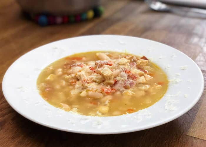 Simple Portuguese Chicken, Bacon & White Bean Soup with Video 1