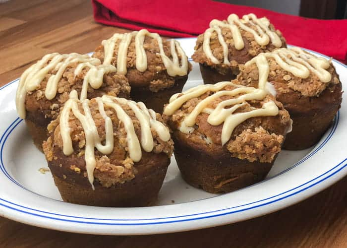 Pumpkin Cream Cheese Muffins with Streusel Topping w/Video 2