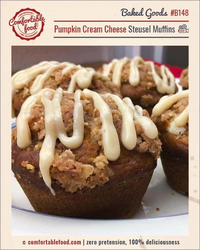 Pumpkin Cream Cheese Muffins with Streusel Topping w/Video 1